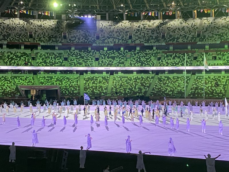 Greece's entry at the opening ceremony of the Olympic Games 1